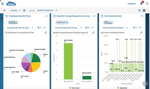 OnePoint Benefits Dashboard new UI