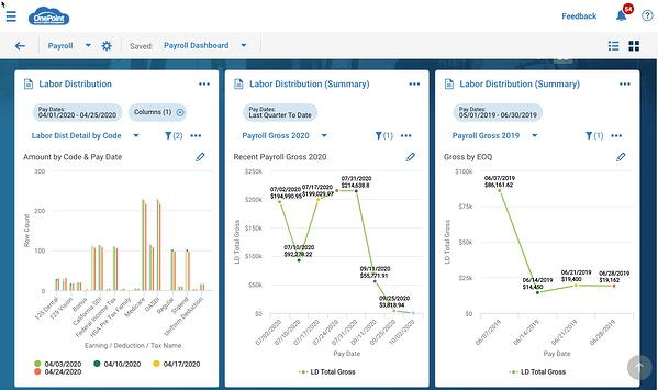 OnePoint Payroll Dashboard new UI
