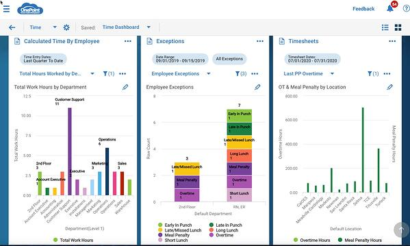 OnePoint Time and Labor Dashboard New UI