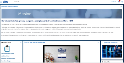 Company Hub OnePoint Support