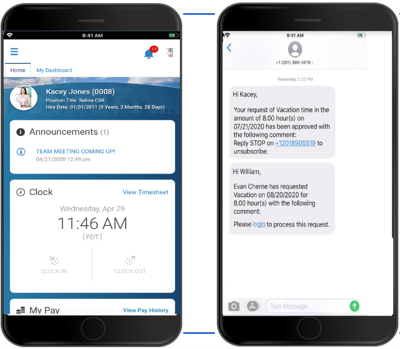 Employee Communication and Alerts Mobile UI