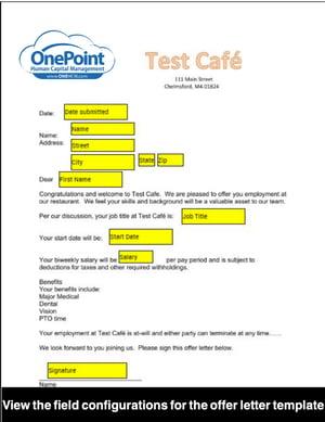 Employee Offer Letter Custom Template
