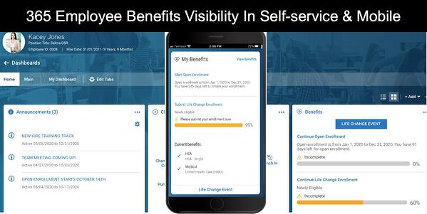 Employee Self Service Benefits and enrollment