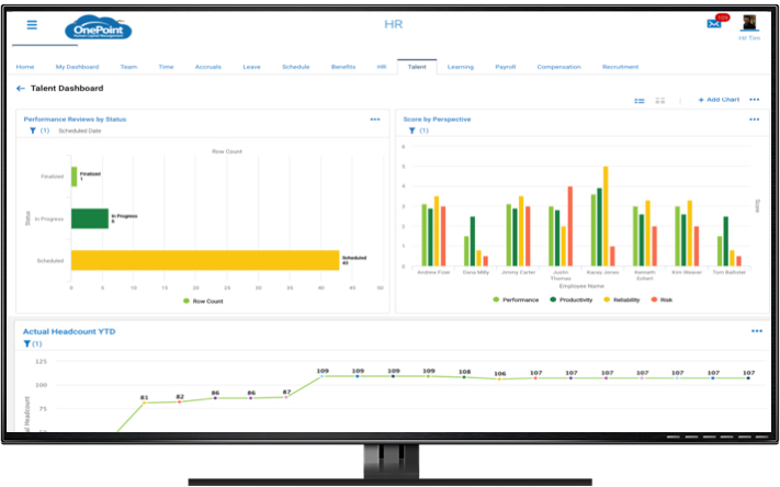 HR Exeucutive dashboard examples - performance