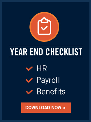 HR Year End Checklist for HR, payroll and benefits