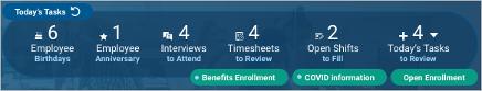 New notification on Todays Task Widget
